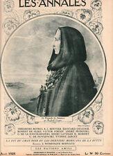 LES ANNALES POLITIQUES 1925 n° 2180 - Mardrus -Bonnaud -Estaunié -