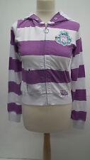 BN Internationale Purple and White Hoodie Cardigan