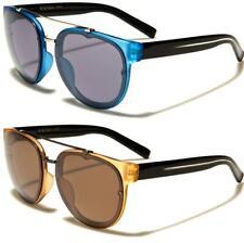f8e3356058 Piloto de diseñador Gafas de sol redondas negro de estilo vintage y retro  Grande UV400 para hombre mujeres señoras