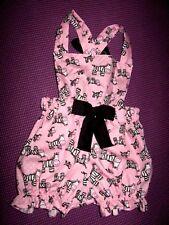 NEW Baby Girls Black white pink cute zebra Short Bloomers Romper set Gift Retro