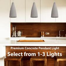 Concrete Ceiling Pendant Lights –240V Modern Retro Grey Hanging LED Kitchen Lamp