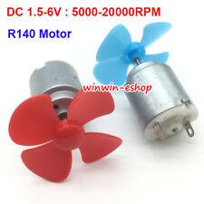 DC 1.5V-6V 20000RPM Mini R140 Motor & Fan High Speed Motor For DIY Toy Fan Boat