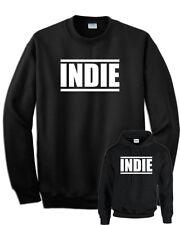 Felpa INDIE musica indipendente nera cappuccio e senza cappuccio unisex