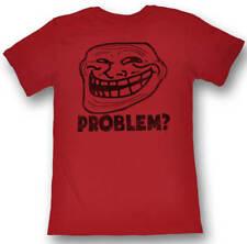 Troll Face You Mad Problem? Juniors Red Lightweight T-Shirt