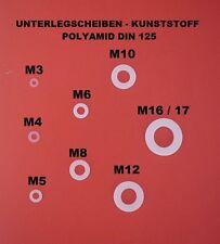 UNTERLEGSCHEIBEN BEILAGSCHEIBEN M3 BIS  M16  KUNSTSTOFF ( POLYAMID ) DIN 125