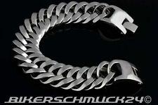 Biker Armband Mammut-Größe XL extra schwer Edelstahl ca. 2,2 cm breit Geschenk