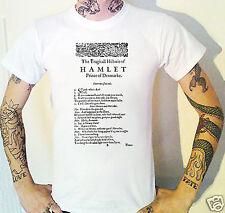 Hamlet primera página Camiseta Primera quarto 1603 Shakespeare Literatura jugar de teatro