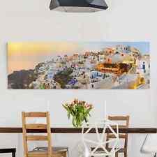 Leinwandbild Strahlendes Santorin Panorama Quer Leinwand XXL Wandbild Kunstdruck