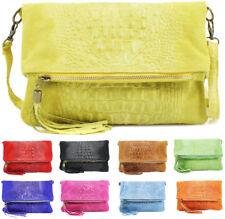 UK Ladies SnakeSkin Suede Leather Clutch Bag Womens Detached Shoulder Handbag