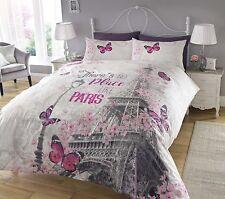 Paris Romance Duvet Cover Bedding Quilt Set & Pillowcases Single Double King New