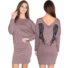Damen Langarm Pullikleid Pullover Party Abendkleid Minikleid, 8237