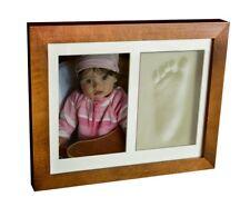 Baby 3D Gips Memory Abdruck Handabdruck Fußabdruck Abform Gipsabdruck Rahmen 2S