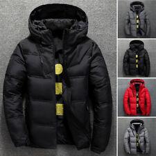 Men's Winter Warm Ultralight Duck Down Jacket Hooded Puffer Outwear Coat L-3XL