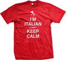 I'm Italian I Can't Keep Calm Meme Italy Pride Stress Italia Funny Men's T-Shirt