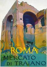 TV79 Vintage 1928 A4 Roma Rome Italy Italian Travel Tourism Poster Re-print