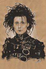 Tim Burton's Edward Scissorhands Portrait - Signed original art by Matt Busch