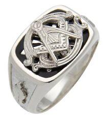 0.925 Sterling Silver or Vermeil Masonic Blue Lodge Freemason Ring