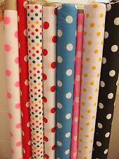 Spot Spotty Polka Dot Polycotton Fabric 112cm wide fabric