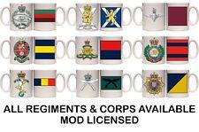 BRITISH ARMY REGT & CORPS PRESENT DAY MILITARY MUG & COASTER (MI3).11&15oz GIFT