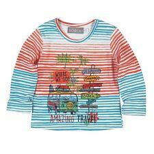 223007 Boboli Baby Mädchen Shirt Bulli  Gr. 62 68 74 80 86 Neu orange - türkis