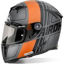 AIROH GP500 gratter mat orange KTM CARBONE MOTOGP feu moto ACU casque