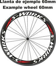 Pegatinas llantas carretera s works stickers decals adhesivos calcas ruedas bici