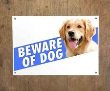 GOLDEN RETRIEVER 9 Beware of dog sign metal