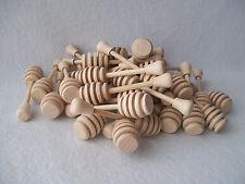 "Honey Wooden Dipper Drizzler 4"" 10cm (Set of 1, 6, 12, 20, 50, 100) Job Lot"