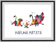 Hakuna Matata Watercolor Art Print Wall Art -Inspired Poster FromThe Lion King