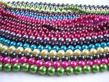 De colores Larga Cadena de Perlas gran Elección color Oferta especial