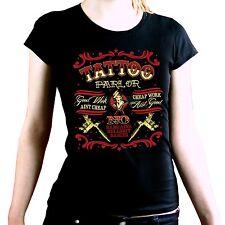7151 LS * tatouage Flash rockabilly Femmes Girl shirt old school motif