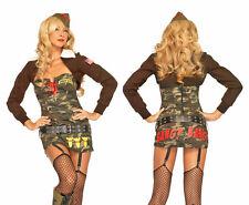 Army Air Corps Bombin' Betty Costume, Leg Avenue 83694, 4 Piece, Size S, M, L