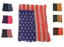 Foulard Bandiera America uomo donna kefia sciarpa Usa vintage cotone vari italy