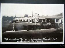 Healdsburg,CA~1950s FAIRVIEW MOTEL~Redwood Hwy 101~RPPC