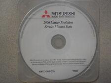 2006 MITSUBISHI LANCER EVOLUTION Service Shop Repair Manual CD FACTORY NEW