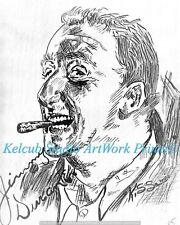 Jimmy Durante Entertainer RARE StKenan Art Chicago Artist Print of 1940 Original