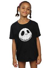 Disney niñas Nightmare Before Christmas Jack Cracked Face Camiseta