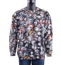 Moschino Couture Runway Jersey Con Botes Estampado Algodón Gris 05427
