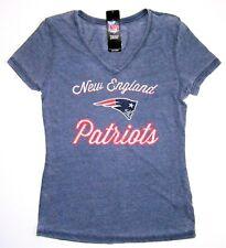 NFL Majestic New England Patriots Women's Heathered Hometown V Neck Shirt