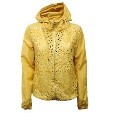 D5154 giubbotto donna yellow ERMANNO SCERVINO forato jacket woman