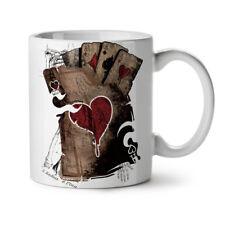Poker Casino Skeleton Ace NEW White Tea Coffee Mug 11 oz   Wellcoda