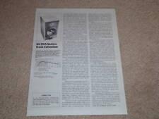 Celestion SL-6 Speaker Review,1 pg,1982,Rare Specs,Info