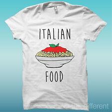 """T-SHIRT MAGLIA UOMO """" ITALIAN FOOD SPAGHETTI """" IDEA REGALO ROAD TO HAPPINESS"""