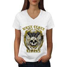 West Coast Riders Biker Women V-Neck T-shirt NEW | Wellcoda