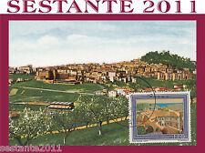 ITALIA MAXIMUM MAXI CARD 1977 FERMO VEDUTA PANORAMICA (162)
