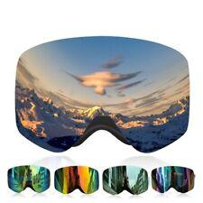 Multicolor Snow Glasses Interchangeable Anti-Fog Compatibility Ski Goggle Unisex