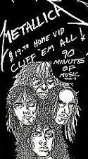 Metallica - Cliff 'Em All  VHS, 1987 $19.98 Home Video Rare Cliff Burton VG+ OOP