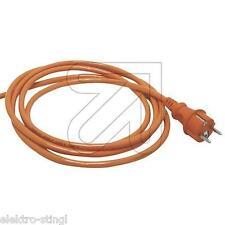 Anschlußkabel PUR orange H07BQ-F 3x1,5 Konturenstecker 3 / 5 m Anschlußleitung