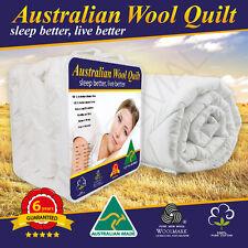 ALL SIZE Aus Made Luxury Merino Wool Quilt 350/500/700GSM---Summer/Winter