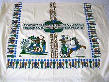 "Egyptian Cotton Ramses Hunting Tablecloth Napkins Rectangular White 84""X 56"" #12"